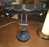Brass plated desk lamp painted with Indigo