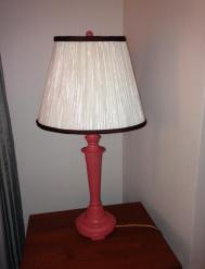 Lamp painted with Vintage Coral.