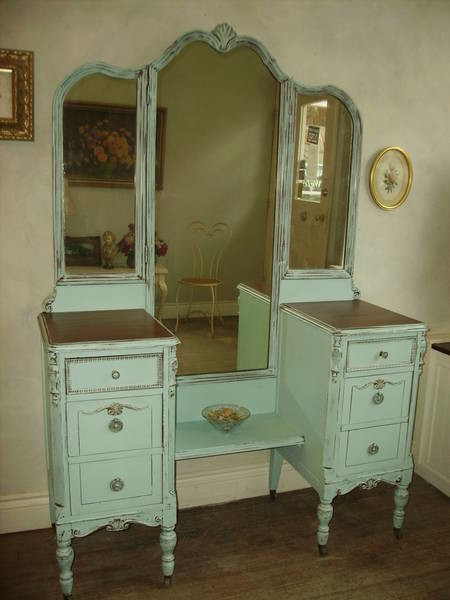 "antique vanity - Remembering ""Antiquing"" Kits From The 1960's SharSum Paint"
