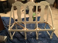 DIY Bench from chairs